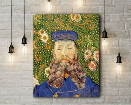 Vincent Van Gogh: Portrait of the Postman Joseph Roulin. Fine Art Canvas.